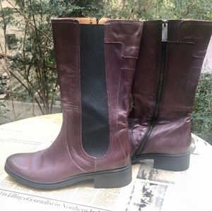 HUNTER DARBY MADE IN ITALY LEATHER MOTO BOOT 8.5